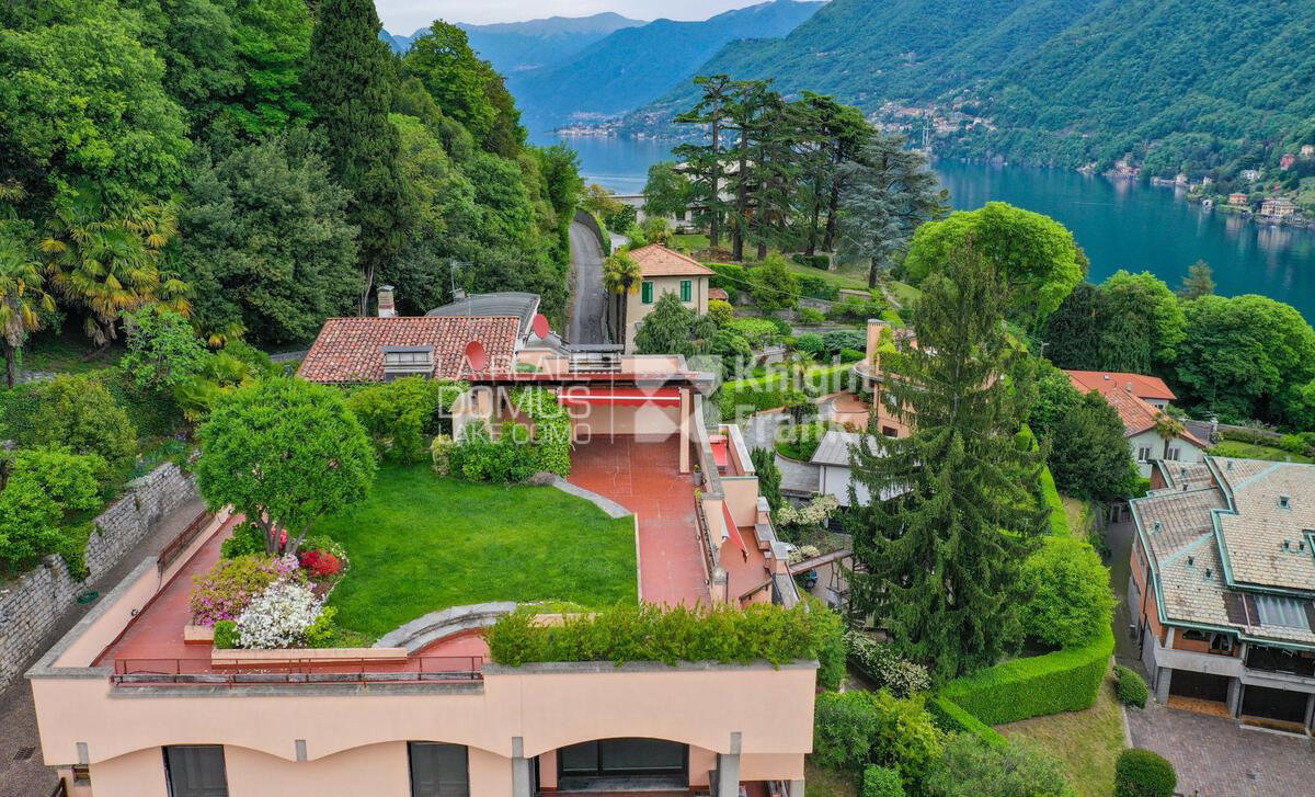 Attico con giardino e vista lago panoramica